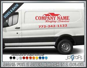 Business-Van-Vinyl-Lettering-Signs-Company-Name-Decals-2-Sides-amp-Back-1-Color