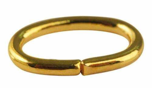 Anneau brisé ovale 7x5 mm Doré 50 pièces MegaCrea
