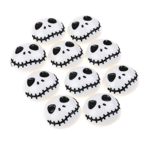 10X Halloween Skeleton Flat Back Resin Cabochon Diy Phone Deco EmbellishmentGNCA