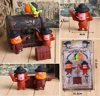 Collectible WACKY PUZZLE rubber erasers cute monkey pirates parrot jewelry case