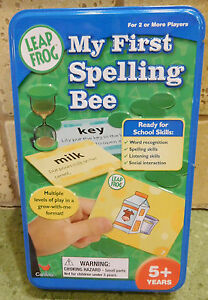 Details about Leap Frog: My First Spelling Bee Toy Learning to Spell Game  Cardinal in Tin