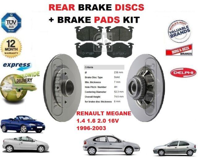 Ford Focus MK2 1.4 1.6 Rear Brake Solid Discs /& Pads 2004-2011 Braking Kit