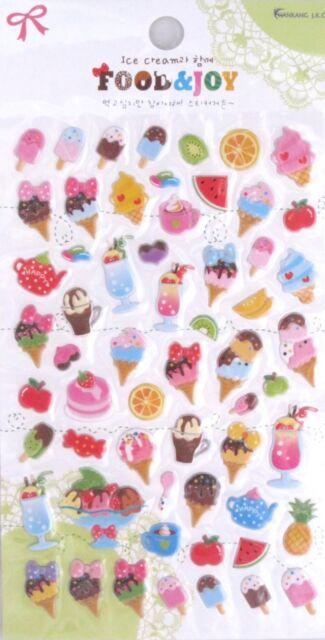 Food & Joy Your Choice of Design Puffy Sticker Sheet~KAWAII!!