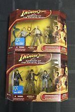 Indiana Jones Kingdom of the Crystal Skull 3 Figure Both Sets Walmart Exclusive
