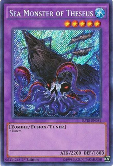 Sea Monster of Theseus - RATE-EN081 - Secret Rare 1st Edition yugioh konami