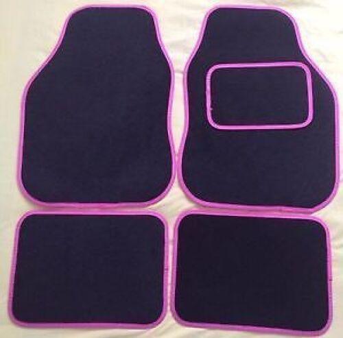 PINK TRIM EDGE CAR FLOOR MAT SET 12-14 CITROEN C1