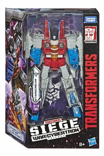 Transformers La guerre sur Cybertron siege Voyager Class Starscream-Neuf