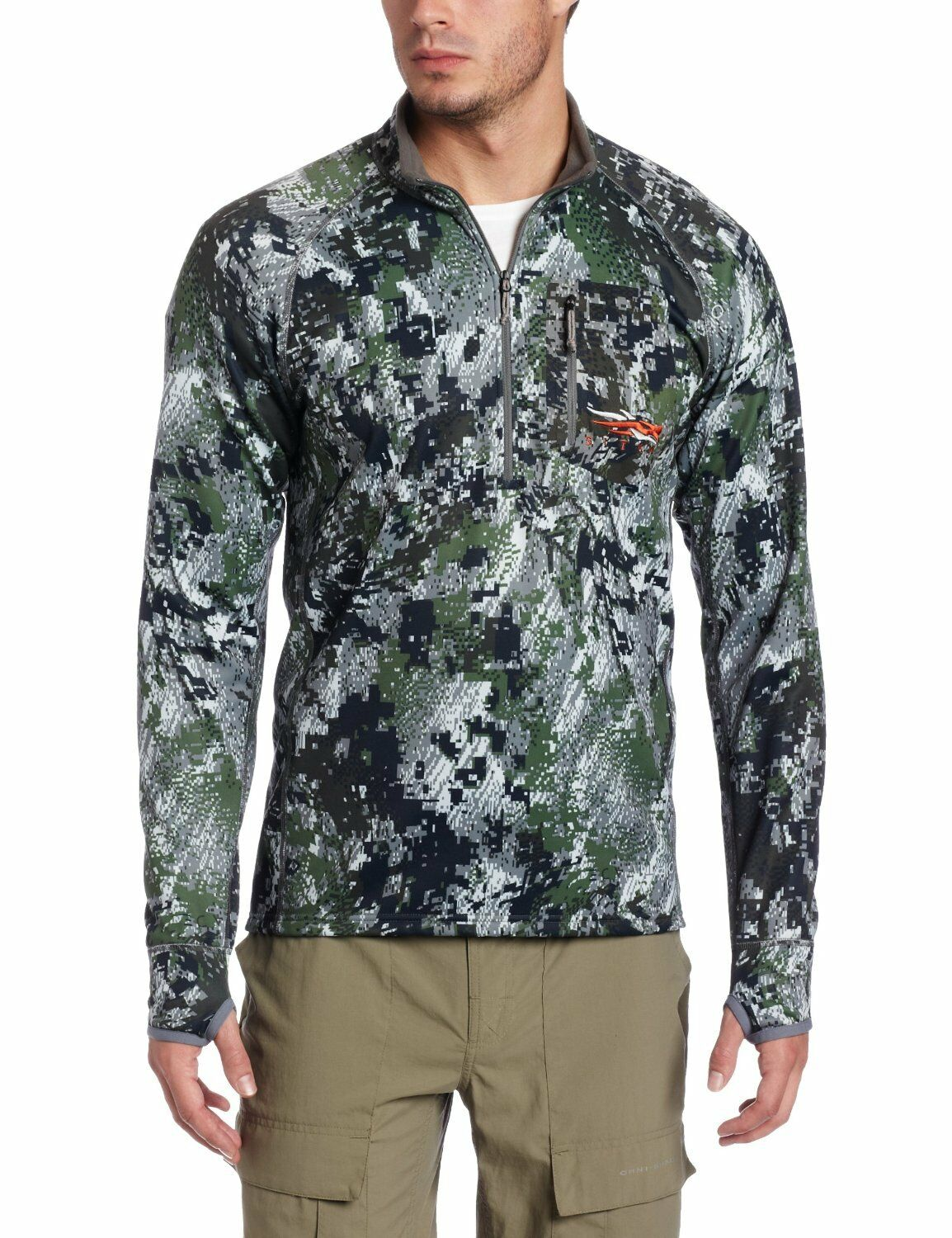 Sitka Gear Traverse  Zip-T  Shirt  Optifade Forest  10001-FR-L  Large
