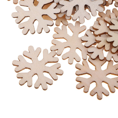 paket Holz Schneeflocke Verzierungen DIY Scrapbooking Handwerk 100 Teile
