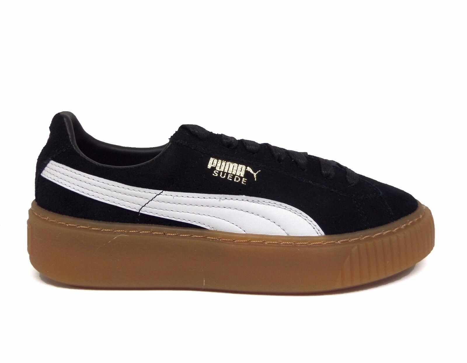 Puma Women's SUEDE PLATFORM CORE Shoes Puma Black/Puma White 363559-02 b