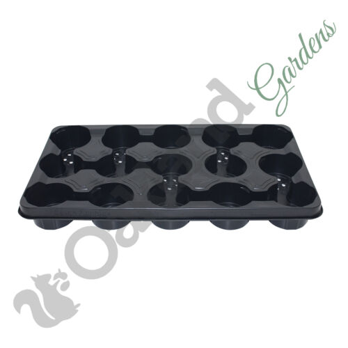 """4 x 10.5cm Carry Trays For 10.5cm Round Plastic Plant Pots Holds 15 4/"""""""