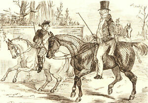 1866 Pen and Ink Drawing - Frank & Grandpa