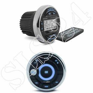 Caliber mrm640bt+mrc300 USB//aux impermeable marine radio para Boot-negará