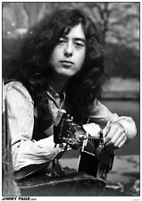 Jimmy Page/Led Zeppelin Poster A1 Size 84.1cm x 59.4cm -  33 inches x 24 inches