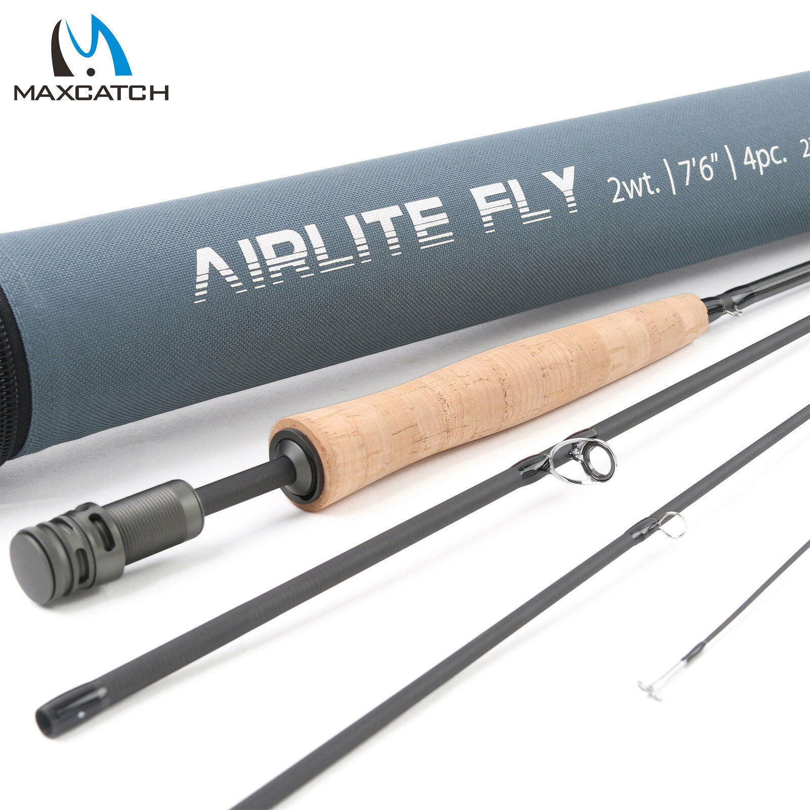 Maxcatch AIRLITE 2 3WT 7'6'' Lightweight Fly Fishing Rod IM10 Carbon Fiber