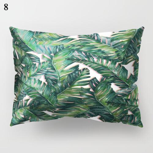 Rectangle Home Sofa Decor Pillow Case Cushion Covers Plants Printed Size 30*50cm