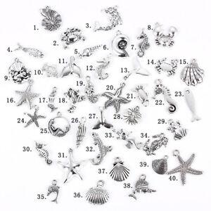 40X-Mixed-Antique-Silver-organisme-Marin-Charme-Pendentif-A-faire-soi-meme-Findings-Making