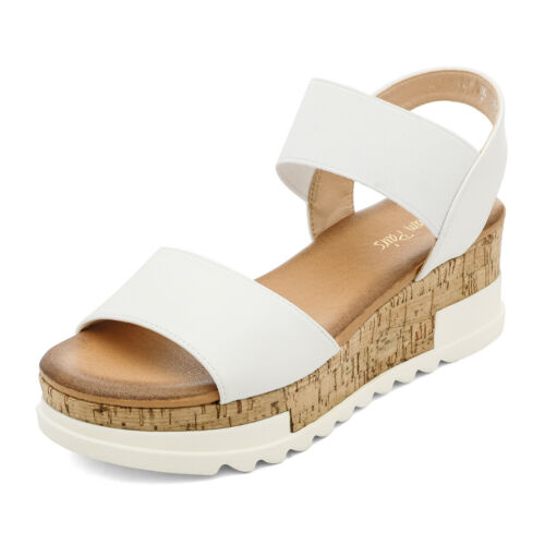 DREAM PAIRS Women/'s Platform Wedge Sandals Ankle Strap Open Toe Summer Shoes