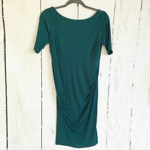 A-Pea-In-The-Pod-Teal-V-Back-Maternity-Dress-Size-S