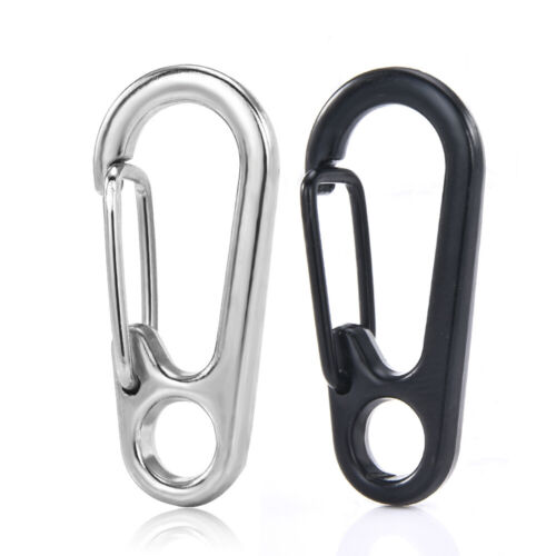 10X Outdoor Survival Camping Mini Carabiner Snap Spring Clips Keychain EDC Tools