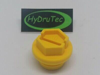 Verschlusskappen Dichtstopfen,Kunststoff Gelb Zoll Außengewinde Schraubstopfen