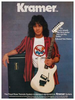 Eddie Van Halen 24 Poster Kramer Promo Ad Monster Rock Guitar Master Ebay