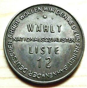 WW2-GERMAN-COMMEMORATIVE-REICHSMARK-COLLECTORS-COIN-LISTE-12-A-H