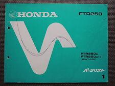 JDM HONDA FTR250 G G-II MD17 Original Genuine Parts List Catalog FTR 250