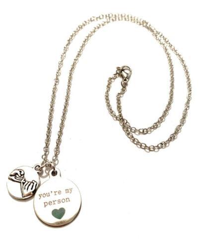 Grey/'s Anatomy Necklace You/'Re My Person Meredith Cristina Tu Sei La Mia Persona