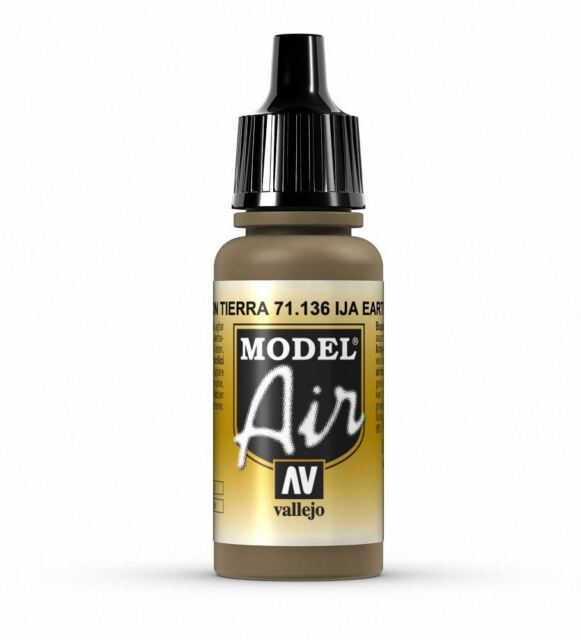 Vallejo Model Air 136 IJA Earth Brown - 17ml Acrylic Airbrush Paint