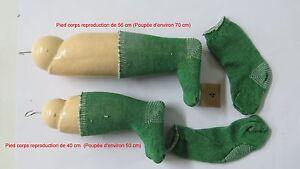 """Chaussettes Vertes   Taille  4      Ref  """" 4VU """"  pour  poupées de  50 à 80 cm"""