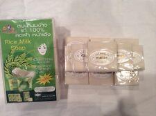 Whitening Collagen Acne  Thai Rice Milk Herbal Soap Handmade Body Face Wash 60g.