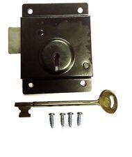 Door Press Rim Lock Traditional Old Style Latch Shed Door Security Fixings 75mm