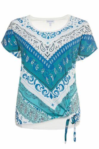 Gina Laura Shirt Front Druck Ibiza Knoten NEU