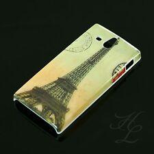 Sony Xperia U/st25i HARD CASE GUSCIO PROTETTIVO ASTUCCIO motivo France Parigi Torre Eiffel