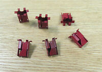 1957 Chevy 150 - 210 Model Crown Fin Molding Clip Set Of 6 ,