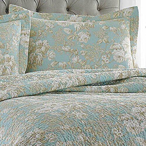Laura Ashley Brompton Serene Reversible Quilt Set King For Sale Online Ebay