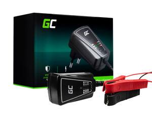 Green Cell Cargador para batería de coche automóvil quad moto scooter 6//12V 1A