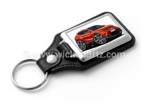 in Flame Red Stylish Key Ring WickedKarz Cartoon Car Nissan Qashqai 2014