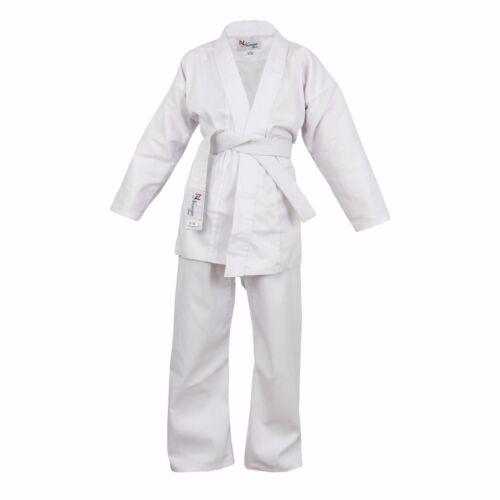 White Children/'s Karate Suit Free White Belt Kids Karate suit