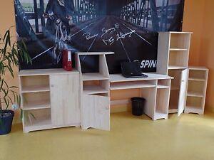 Meubles de bureau set complet étagère commode armoire bureau bois