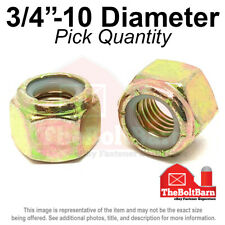 #12-24 Coarse Thread Nyloc Nylon Insert Locknut NM Standard Low Carbon Steel Zinc Plated Pk 50