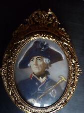 Miniatur Friedrich II Bronzerahmen miniature portrait king Frederic ormolu frame
