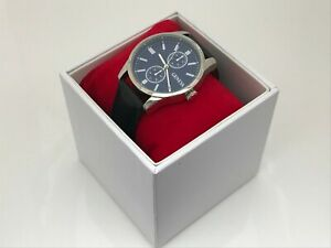 Geneva-Men-Watch-Black-Imitation-Leather-Strap-Analog-Wrist-Watch-W-Box