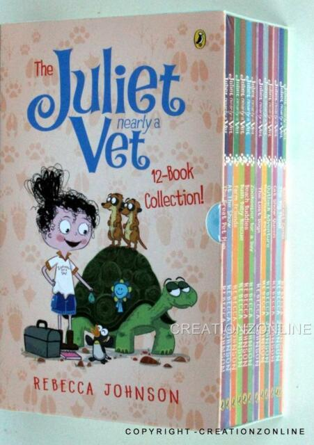 JULIET NEARLY A VET 12 BOOK COLLECTION NEW SEALED REBECCA JOHNSON DOGS BUSH BABY
