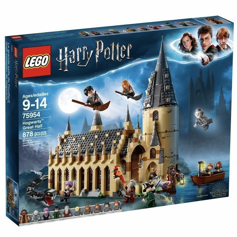 LEGO 75954 Harry Potter Hogwarts Great Hall Building Kit - 878 Pieces NEW IN BOX