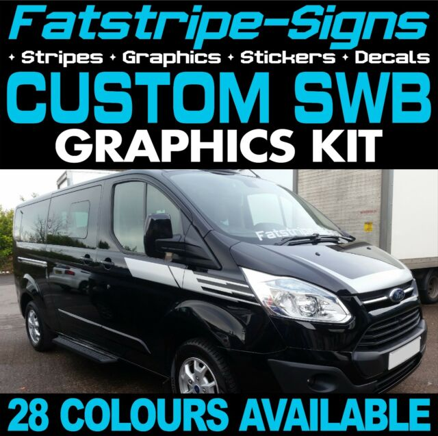 Ford transit custom swb graphics stickers stripes decals st m sport day van 5