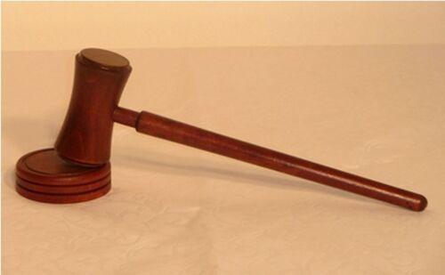 gedrechselt Auktionshammer Richterhammer  mit Block