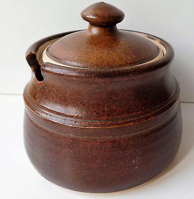 Honey pot preserve jar with lid jam or marmalade storage serving studio pottery