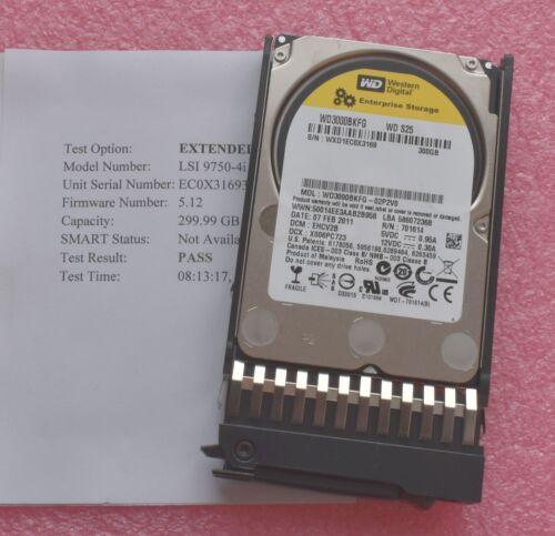 """Western Digital WD3000BKFG Tested 300GB 10K SAS 2.5/"""" Hard Drives HDD"""